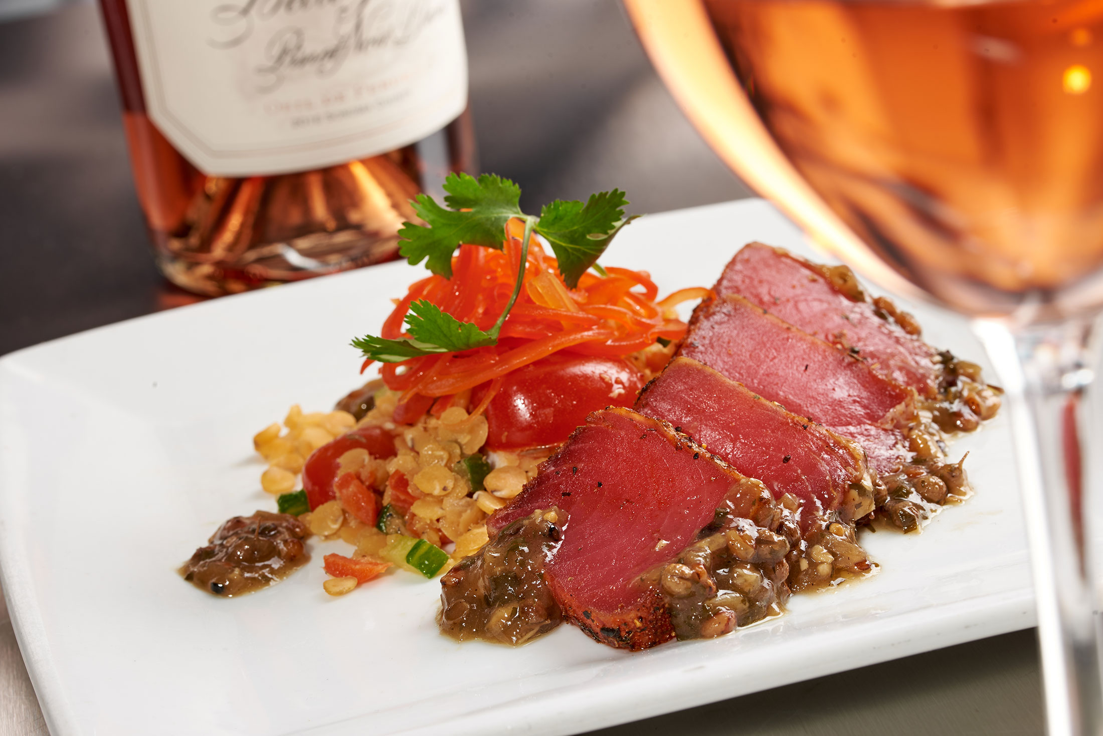 food_photography_ruths_chris_steak_house_tuna_wine_dinner